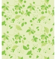 Seamless abstract green leaves pattern vector image
