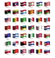 Set of buttons with flags vector image