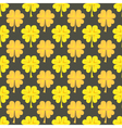 St Patrick Day gold clover seamless pattern vector image