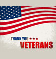 veterans day in the us vector image