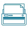 Printer linear vector image