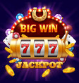 big win 777 lottery casino concept with vector image