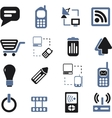 communication signs set vector image