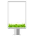 blank vertical billboard vector image