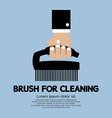 Brush For Cleaning vector image