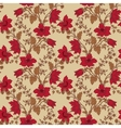 floral seamless with red flower vector image