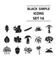 forest set icons in black style big collection vector image