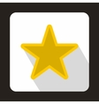 Golden star icon in flat style vector image
