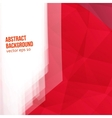 red polygons Abstract background vector image