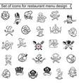 restaurant menu design set vector image