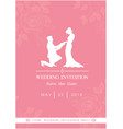 wedding invitation save the date roses pink backgr vector image