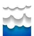 EPS10 design applique clouds vector image vector image