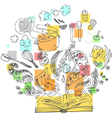Sketchy doodles cook book vector image