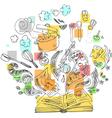 Sketchy doodles cook book vector image vector image