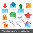 12 pro icons for web presentation or for web sites vector image