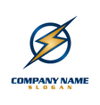 electrical company logo vector image