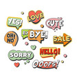 comic speech bubbles for different emotions and vector image