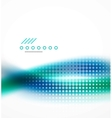 Abstract background blue wave business template vector image vector image
