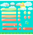 Spring buttons vector image