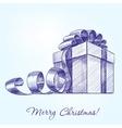 gift box hand drawn llustration realistic vector image vector image