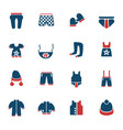 baby clothes icon set vector image