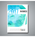 Business Design Cover Magazine background Aqua vector image