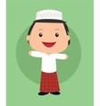 cute islamic boy vector image