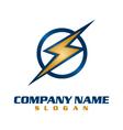 electrical company logo vector image