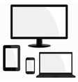 Electronic device set vector image