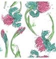 floral seamless pattern with irises vector image