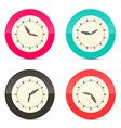 Retro Alarm Clock Set Isolated on White Background vector image