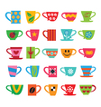 Set of colorful cups vector image