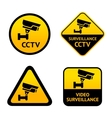 Video surveillance set labels vector image