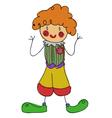 doodle clown vector image vector image