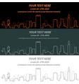 boston event banner hand drawn skyline vector image
