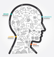 infographics head design diagram line style vector image vector image