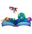 Rocket book vector image