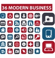 modern business buttons vector image vector image