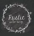 Rustic design vector image