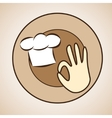 logo of chef cap and okay sign vector image