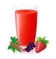 berry juice vector image vector image