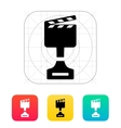Best movie icon on white background vector image
