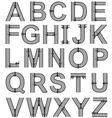 Bolted metal alphabet font vector image