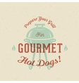 Gourmet Grill Hot Dogs Vintage Card Poster vector image