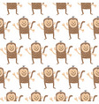 monkey pattern vector image
