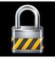 Padlock icon Isolated on black vector image