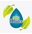 Save water design vector image