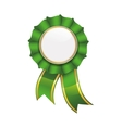 Seal stamp green label ribbon banner icon vector image