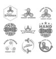 set logo hand spinner toys vector image