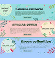 set of banners with floral ornaments can be used vector image